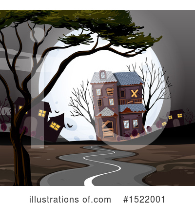 Haunted House Clipart #1522001 by Graphics RF