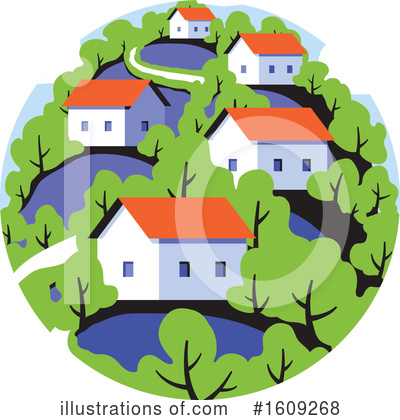 Royalty-Free (RF) House Clipart Illustration by elena - Stock Sample #1609268