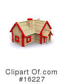 Royalty-Free (RF) House Clipart Illustration #16227