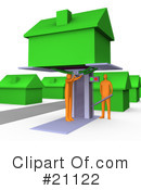 Royalty-Free (RF) House Clipart Illustration #21122