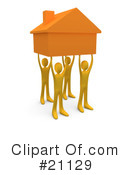 Royalty-Free (RF) House Clipart Illustration #21129