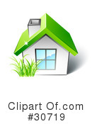 Royalty-Free (RF) House Clipart Illustration #30719