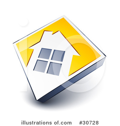 Royalty-Free (RF) House Clipart Illustration by beboy - Stock Sample #30728