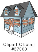 Royalty-Free (RF) House Clipart Illustration #37003