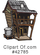 House Clipart #42785 by Dennis Holmes Designs