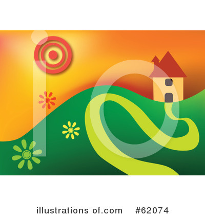 Royalty-Free (RF) House Clipart Illustration by chrisroll - Stock Sample #62074
