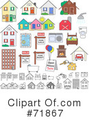 House Clipart #71867 by inkgraphics