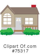 Royalty-Free (RF) House Clipart Illustration #75317