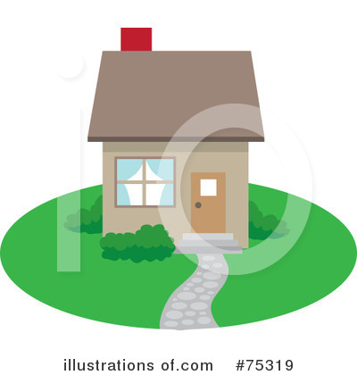 Royalty-Free (RF) House Clipart Illustration by Rosie Piter - Stock Sample #75319
