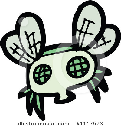 House Fly Clipart #1117573 by lineartestpilot