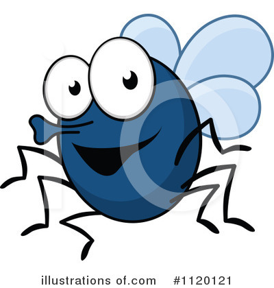 House Fly Clipart #1120121 by Vector Tradition SM