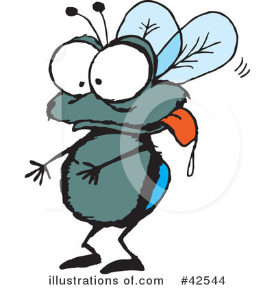Royalty-Free (RF) House Fly Clipart Illustration by Dennis Holmes Designs - Stock Sample #42544