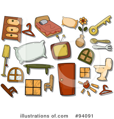 Royalty-Free (RF) Household Clipart Illustration by BNP Design Studio - Stock Sample #94091