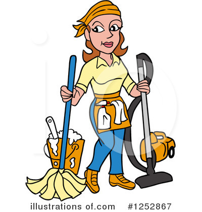 Cleaning Clipart #1252867 by LaffToon