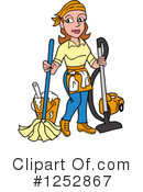 Royalty-Free (RF) Housekeeper Clipart Illustration #1252867