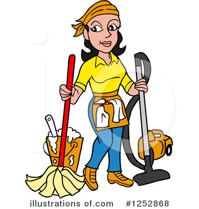 Cleaning Clipart #1252868 by LaffToon