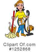 Royalty-Free (RF) Housekeeper Clipart Illustration #1252868