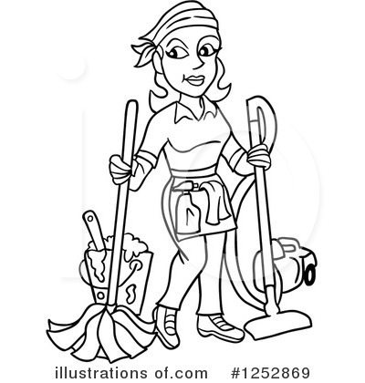 Cleaning Clipart #1252869 by LaffToon