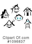 Houses Clipart #1096837 by Vector Tradition SM