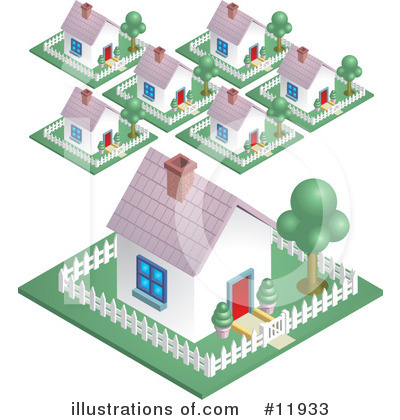 Housing Clipart #11933 by AtStockIllustration