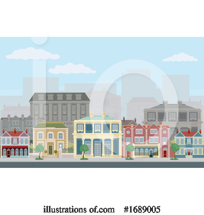Royalty-Free (RF) Houses Clipart Illustration by AtStockIllustration - Stock Sample #1689005