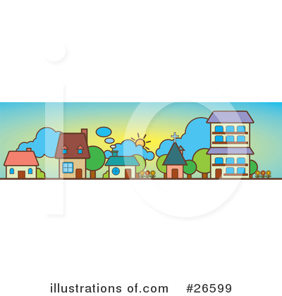 Clip Art Houses Free. Houses Clipart #26599 by