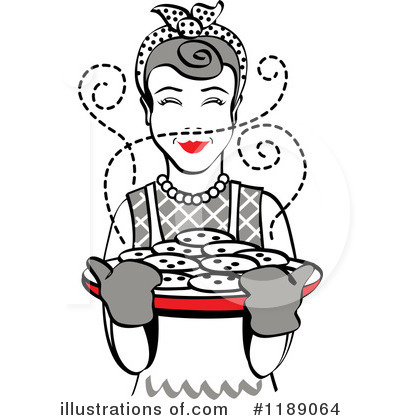 Royalty-Free (RF) Housewife Clipart Illustration by Andy Nortnik - Stock Sample #1189064