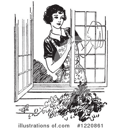 Royalty-Free (RF) Housewife Clipart Illustration by Picsburg - Stock Sample #1220861