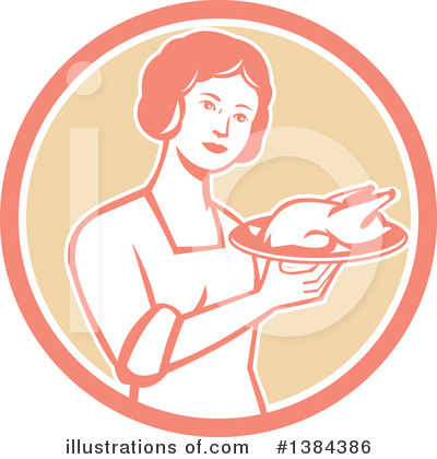 Royalty-Free (RF) Housewife Clipart Illustration by patrimonio - Stock Sample #1384386
