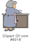 Housewife Clipart #6018