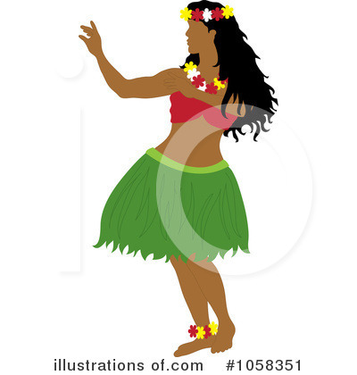 Hula Girl Clipart #1058351 by Pams Clipart