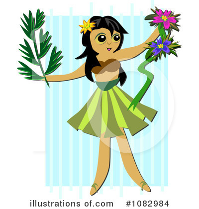 Hula Girl Clipart #1082984 by bpearth