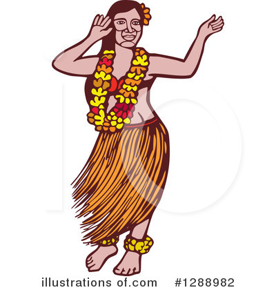 Hula Dancer Clipart #1288982 by patrimonio