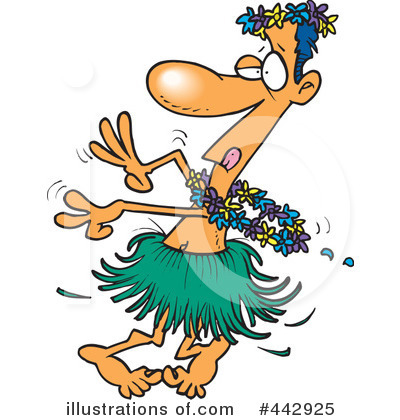 Hula Dancer Clipart #442925 by toonaday