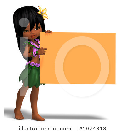 Hula Girl Clipart #1074818 by Ralf61