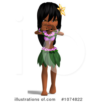 Hula Girl Clipart #1074822 by Ralf61