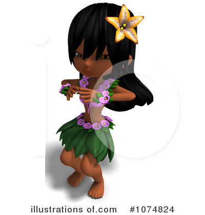 Hula Girl Clipart #1074824 by Ralf61