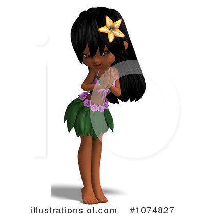 Hula Girl Clipart #1074827 by Ralf61