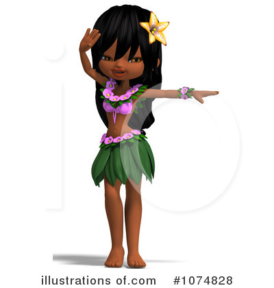 Hula Girl Clipart #1074828 by Ralf61
