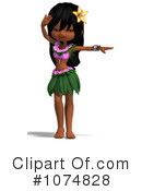 Royalty-Free (RF) Hula Girl Clipart Illustration #1074828