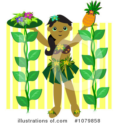 Hula Girl Clipart #1079858 by bpearth