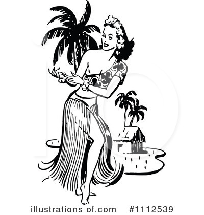 Hula Dancer Clipart #1112539 by Prawny Vintage