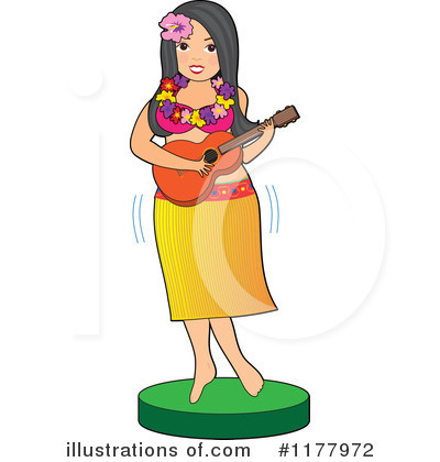 Hula Girl Clipart #1177972 by Maria Bell