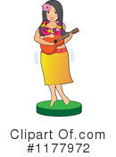 Royalty-Free (RF) Hula Girl Clipart Illustration #1177972