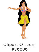 Royalty-Free (RF) hula girl Clipart Illustration #96806