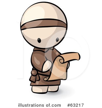 Reading Clipart #63217 by Leo Blanchette