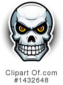 Human Skull Clipart #1432648 by Cory Thoman