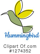 Royalty-Free (RF) Hummingbird Clipart Illustration #1274352