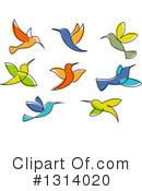 Royalty-Free (RF) Hummingbird Clipart Illustration #1314020