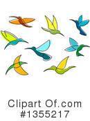 Royalty-Free (RF) Hummingbird Clipart Illustration #1355217